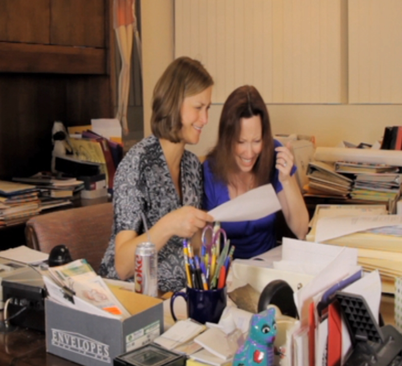 "With Shelley Delayne, from ""Other Side of the Desk"""